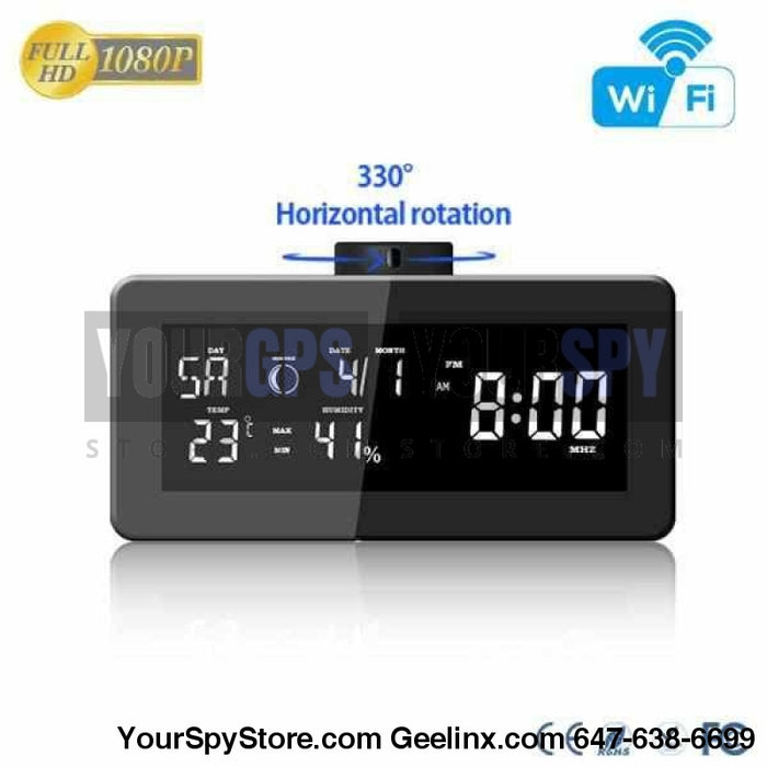 Radio Camera - HD 1080P Wi-Fi Weather FM Radio Security Camera