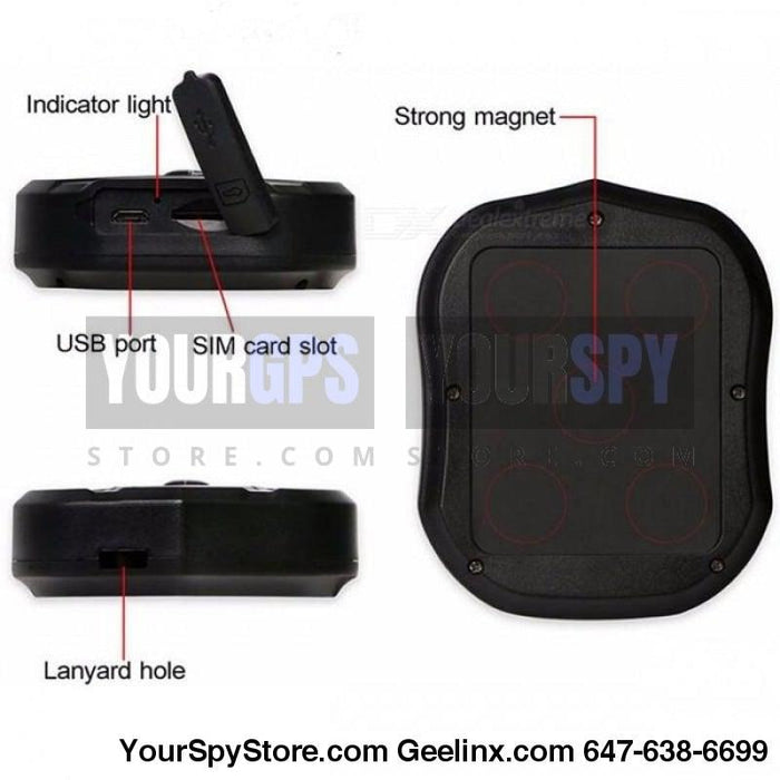 Star Series | Magnetic Gps Tracker 2 Weeks Battery Real Time Waterproof Portable