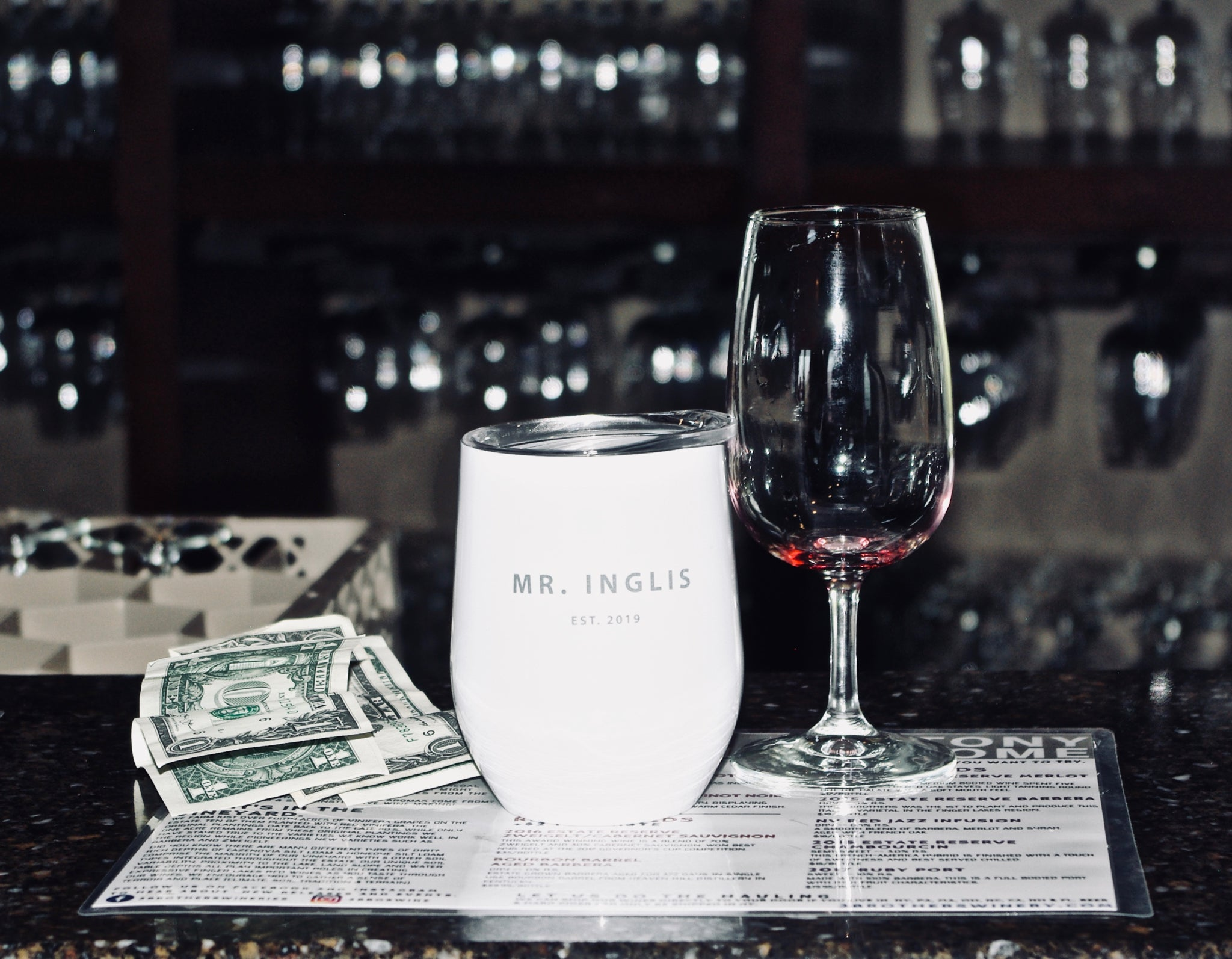 personalized wine tumbler, gift for him