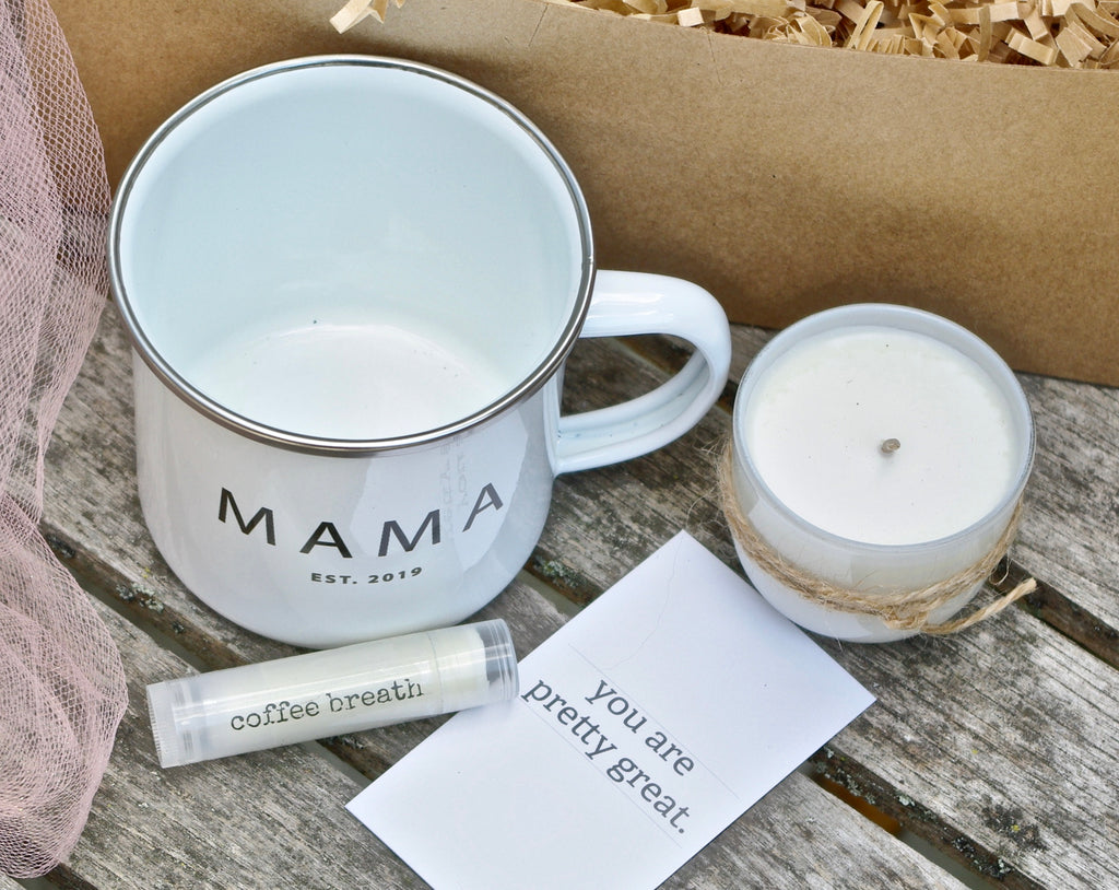 new mom gift basket mama bear mug