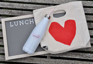 Heart lunch bag and water bottle