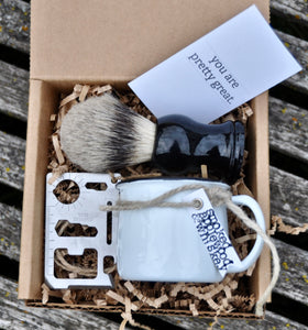 Personalized shaving kit groomsmen gift, care package for men