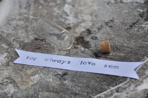 Anniversary gift message in a bottle