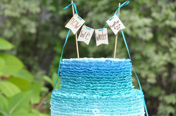 wooden cake toppers bridal shower
