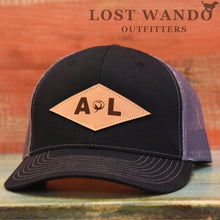 Load image into Gallery viewer, Alabama Diamond Leather Patch Black-Charcoal Lost Wando Outfitters - Lost Wando Outfitters