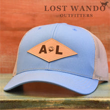 Load image into Gallery viewer, Alabama Diamond Leather Patch Columbia Blue-Khaki Lost Wando Outfitters - Lost Wando Outfitters