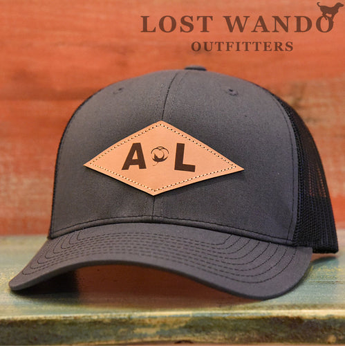 Alabama Diamond Leather Patch Hat Charcoal-Black Lost Wando Outfitters - Lost Wando Outfitters
