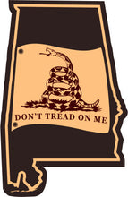 Load image into Gallery viewer, Alabama State Don't Tread On Me Gadsden Flag Leather Patch Hat-Heather Grey-Black - Lost Wando Outfitters