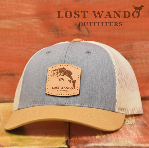 Bass Leather Patch Hat Heather Grey-Birch-Amber Lost Wando Outfitters - Richardson 115 - Lost Wando Outfitters