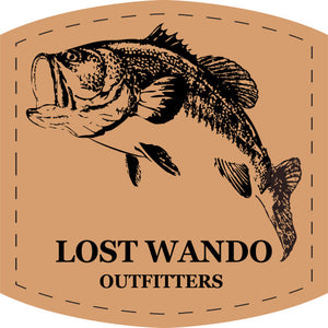 Bass Leather Patch Hat Royal-White-Heather Grey Lost Wando Outfitters - Richardson 112 - Lost Wando Outfitters