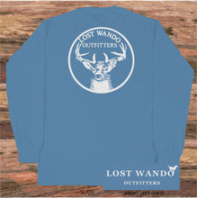 Load image into Gallery viewer, Lost Wando Trophy Buck Long Sleeve Slate T-shirt