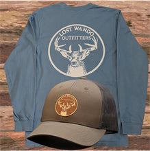 Load image into Gallery viewer, Lost Wando Trophy Buck Long Sleeve Slate T-shirt - Lost Wando Outfitters