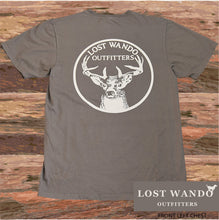 Load image into Gallery viewer, Lost Wando Trophy Buck Graphite Short Sleeve T-shirt - Lost Wando Outfitters