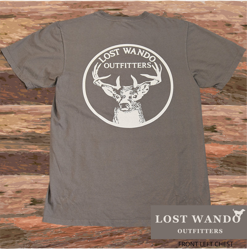 Lost Wando Trophy Buck Graphite Short Sleeve T-shirt - Lost Wando Outfitters