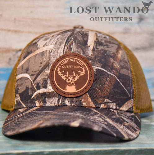 Buck Max5-Buck Leather Patch Hat Lost Wando Outfitters Richardson 112P