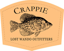 Load image into Gallery viewer, Crappie Leather Patch Hat Charcoal-Black Lost Wando Outfitters - Richardson 112
