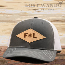 Load image into Gallery viewer, Florida Diamond Leather Patch Hat - Charcoal- White Richardson 112 - Lost Wando Outfitters