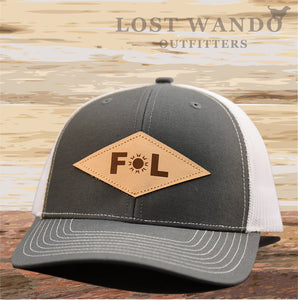 Florida Diamond Leather Patch Hat - Charcoal- White Richardson 112 - Lost Wando Outfitters