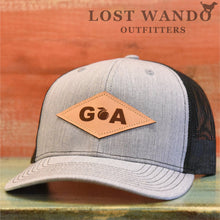 Load image into Gallery viewer, GA Diamond Leather Patch Hat - Heather Grey-Black Richardson 112 - Lost Wando Outfitters