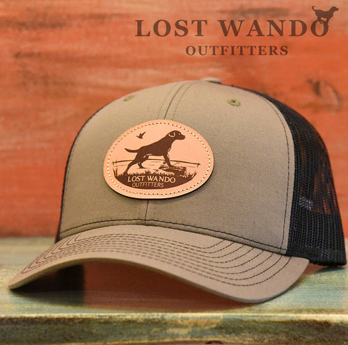 Marsh Lab Leather Patch Hat Loden-Black - Lost Wando Outfitters