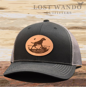 Marsh Lab Leather Patch Hat Black-Charcoal - Lost Wando Outfitters