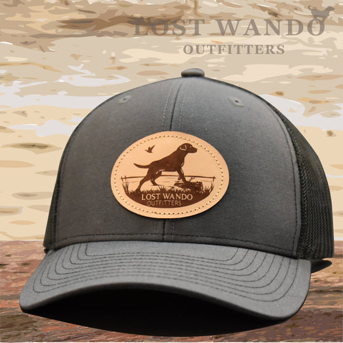Marsh Lab Leather Patch Hat Charcoal-Black - Lost Wando Outfitters