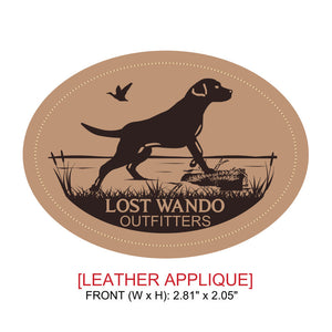 Marsh Lab Leather Patch Hat Black - Lost Wando Outfitters