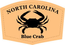 Load image into Gallery viewer, North Carolina Blue Crab Leather Patch Hat- Heather Grey-Black Richardson 112 - Lost Wando Outfitters