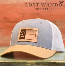 Load image into Gallery viewer, NC Flag Leather Patch - Heather Grey-Biscuit-Amber Gold - Lost Wando Outfitters
