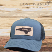 Load image into Gallery viewer, NC Brewed Leather Patch - Charcoal - Black - Lost Wando Outfitters