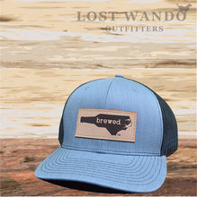 Load image into Gallery viewer, NC Brewed Leather Patch - Heather Grey - Black - Lost Wando Outfitters