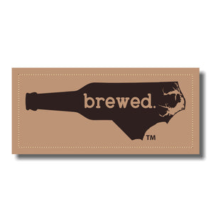 NC Brewed Leather Patch - Heather Grey - Black - Lost Wando Outfitters