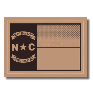NC Flag Leather Patch - Heather Grey-Biscuit-Amber Gold - Lost Wando Outfitters