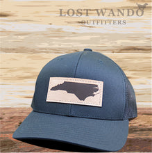 Load image into Gallery viewer, NC Outline Leather Patch Captuer Black Black - Lost Wando Outfitters
