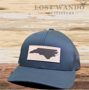 NC Outline Leather Patch Captuer Black Black - Lost Wando Outfitters