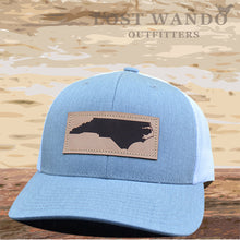 Load image into Gallery viewer, NC Outline Leather Patch Captuer Heather Grey-White - Lost Wando Outfitters