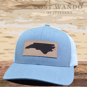 NC Outline Leather Patch Captuer Heather Grey-White - Lost Wando Outfitters