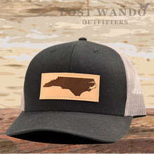Load image into Gallery viewer, NC Outline Leather Patch Captuer Black Charcoal - Lost Wando Outfitters