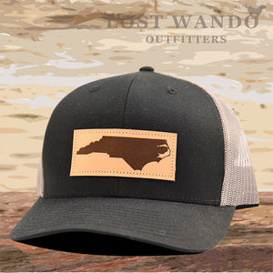 NC Outline Leather Patch Captuer Black Charcoal - Lost Wando Outfitters