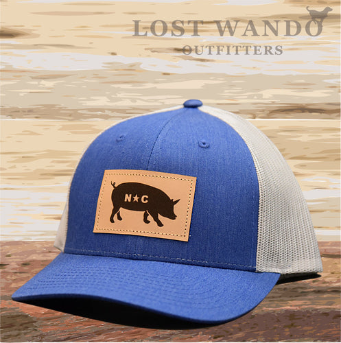NC Pig Patch Hat - Heather Blue - Grey Lost Wando Outfitters - Lost Wando Outfitters