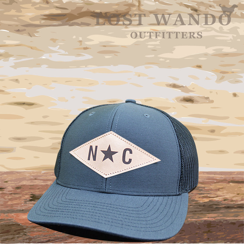 N*C Diamond Leather Patch - Charcoal - Black - Lost Wando Outfitters