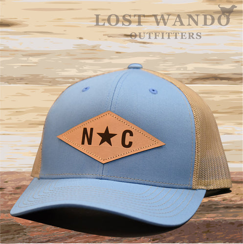N*C Diamond Leather Patch - Columbia Blue-Khaki Lost Wando Outfitters - Lost Wando Outfitters