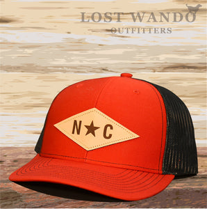 N*C Diamond Leather Patch - Red - Black Lost Wando Outfitters - Lost Wando Outfitters