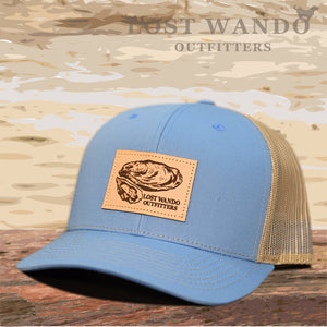 Oyster Leather Patch Hat Columbia Blue - Khaki  Lost Wando Outfitters - Lost Wando Outfitters