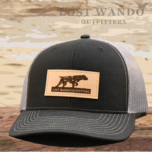 Load image into Gallery viewer, Pointer Leather Patch Hat Black-Charcoal - Lost Wando Outfitters