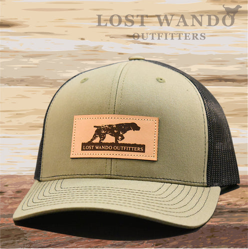 Pointer Leather Patch Hat Loden-Black - Lost Wando Outfitters