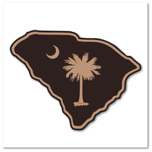 Load image into Gallery viewer, SC Etched Leather Outline - Charcoal Black - Lost Wando Outfitters