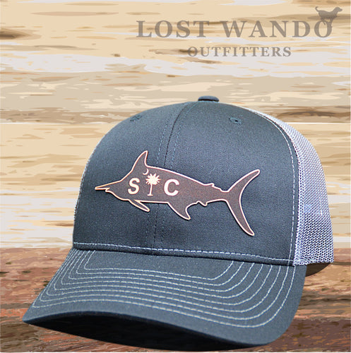 SC Marlin Etched Leather -Black Charcoal - Lost Wando Outfitters