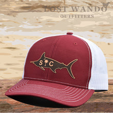 Load image into Gallery viewer, SC Marlin Etched Leather -Cardinal White Lost Wando Outfitters - Lost Wando Outfitters