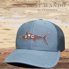 Load image into Gallery viewer, SC Marlin Etched Leather -Charcoal Black - Lost Wando Outfitters